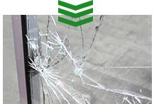突然起こったガラスのトラブル 写真